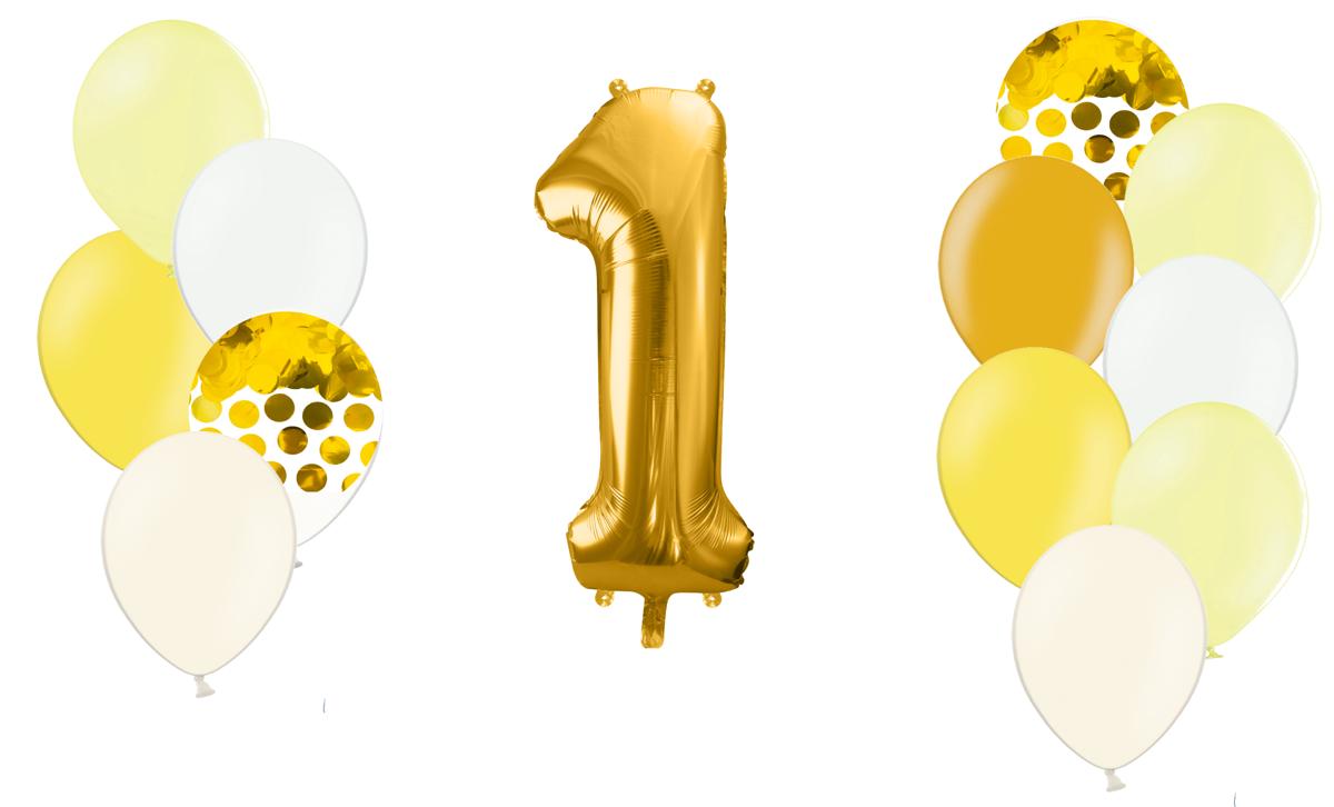 Zelta ciparu kompozīcija Saldumi, gaiši dzeltenā tonī