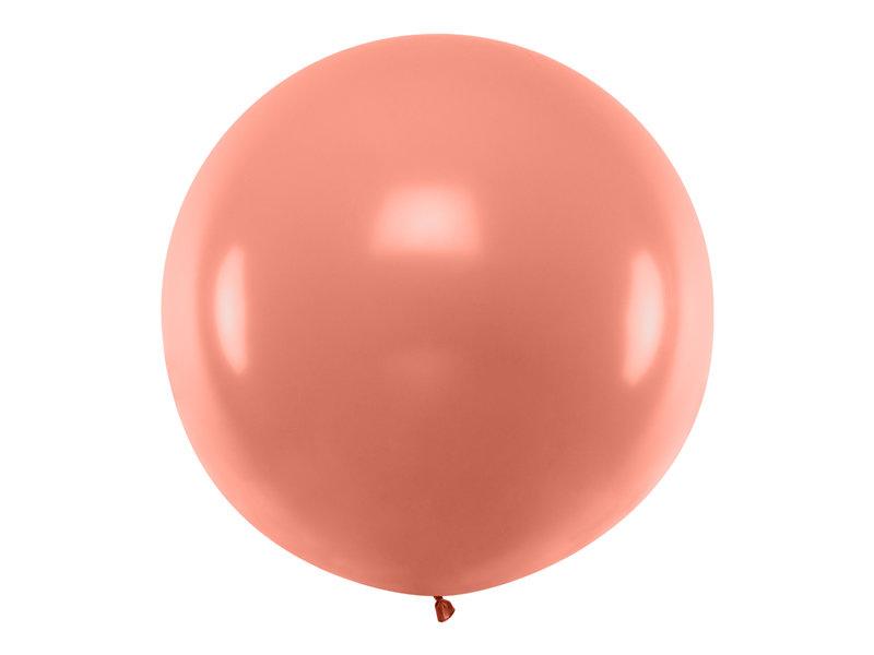 Gigantiskais balons 1m, rozā zelta tonī