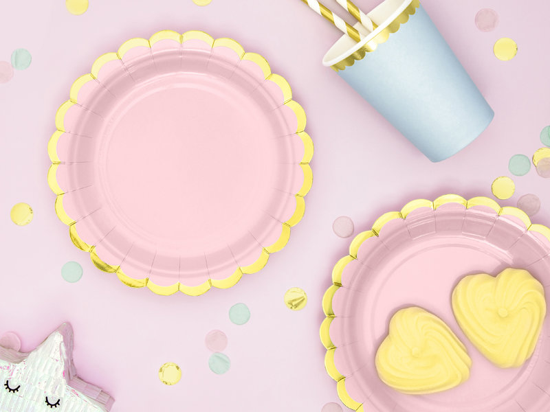Trauku komplekts Saldumi, maigi rozā tonī