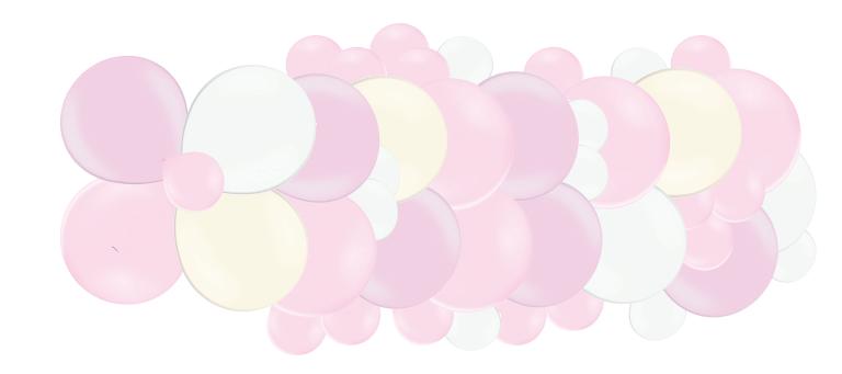Mākslinieciskā virtene Saldumi, maigi rozā toņos