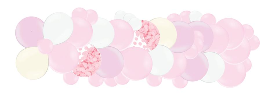 Mākslinieciskā virtene 1.dzimšanas diena, maigi rozā