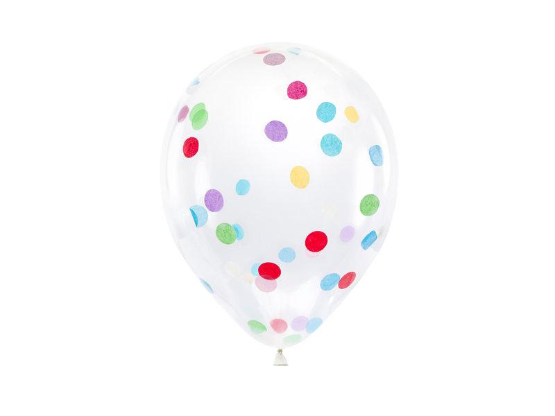 Konfeti baloni ar daudzkrāsainu pildījumu, 30cm