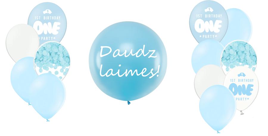 Personalizētā gigantiskā kompozīcija 1.dzimšanas diena, debesu zila