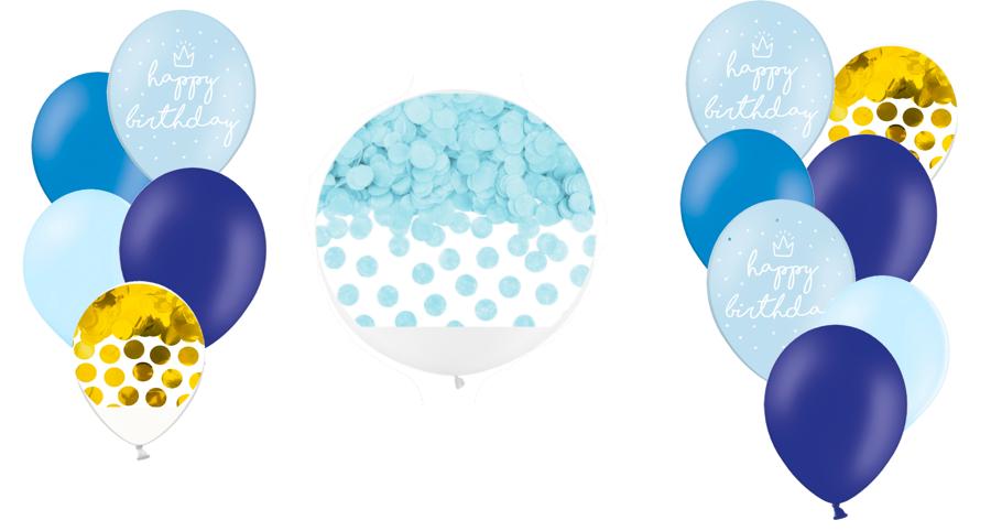 Tematiskā kompozīcija Dzimšanas diena, zilos toņos