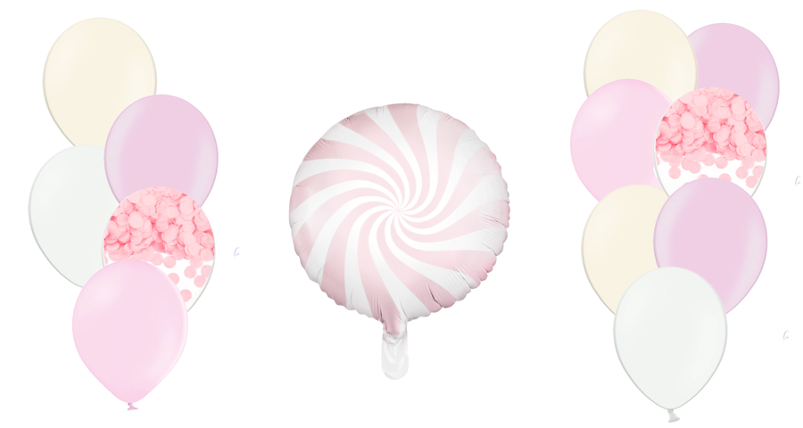 Tematiskā kompozīcija Saldumi, maigi rozā tonī