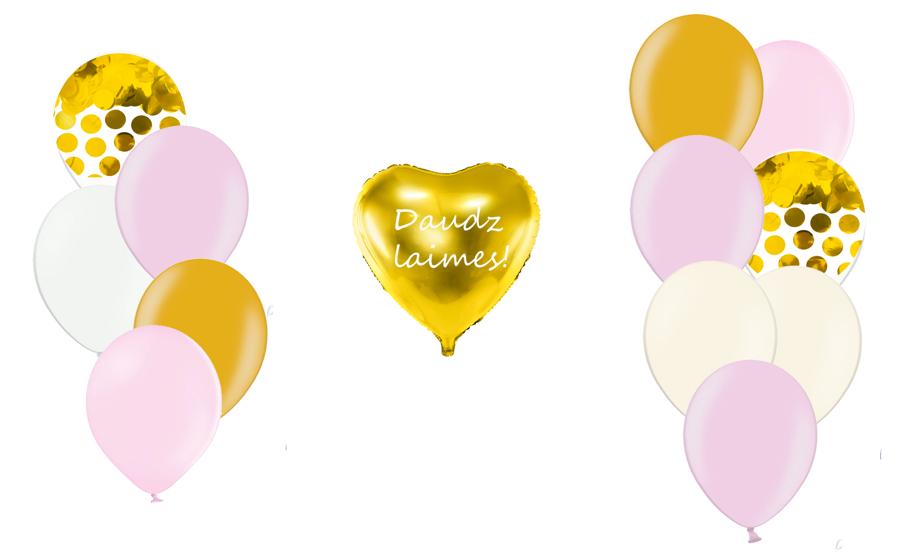Personalizētā sirds kompozīcija Saldumi, maigi rozā tonī