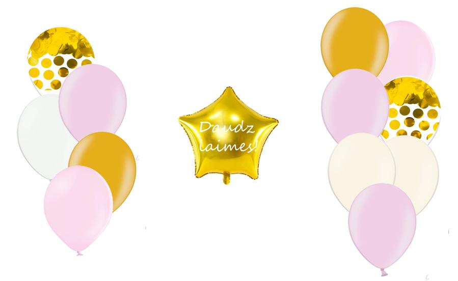 Personalizētā zvaigznes kompozīcija Saldumi, maigi rozā tonī