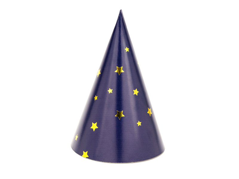 Ballīšu cepures ar zelta zvaigznītēm 11cm