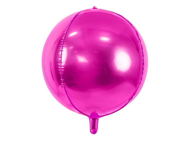 Folija balons apaļš 40cm, tumši rozā