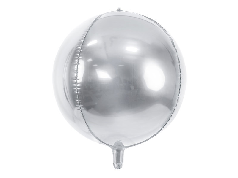 Folija balons Bumba 40cm, sudraba tonī