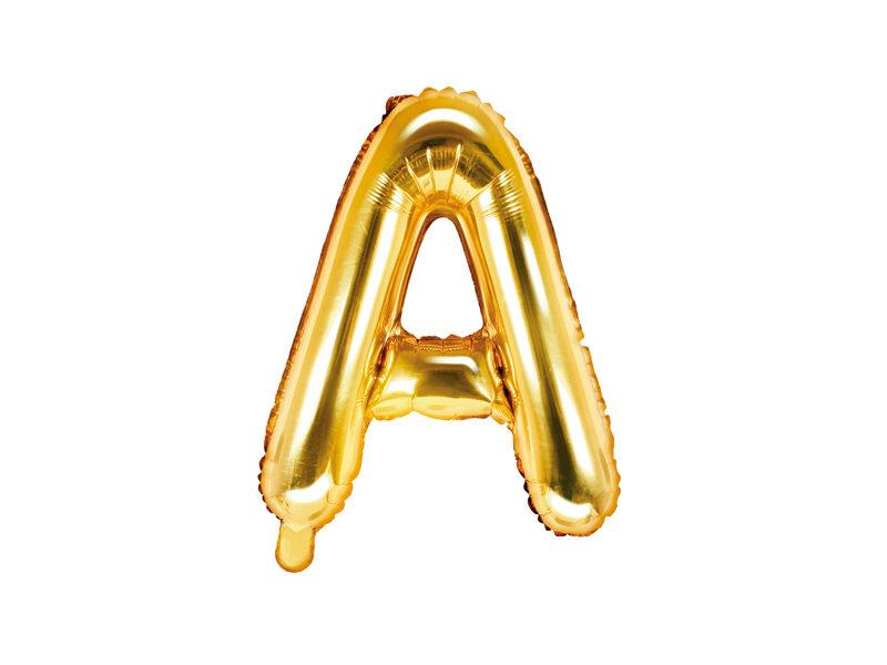 "Folija balona burts ""A"" 35cm, zelta"