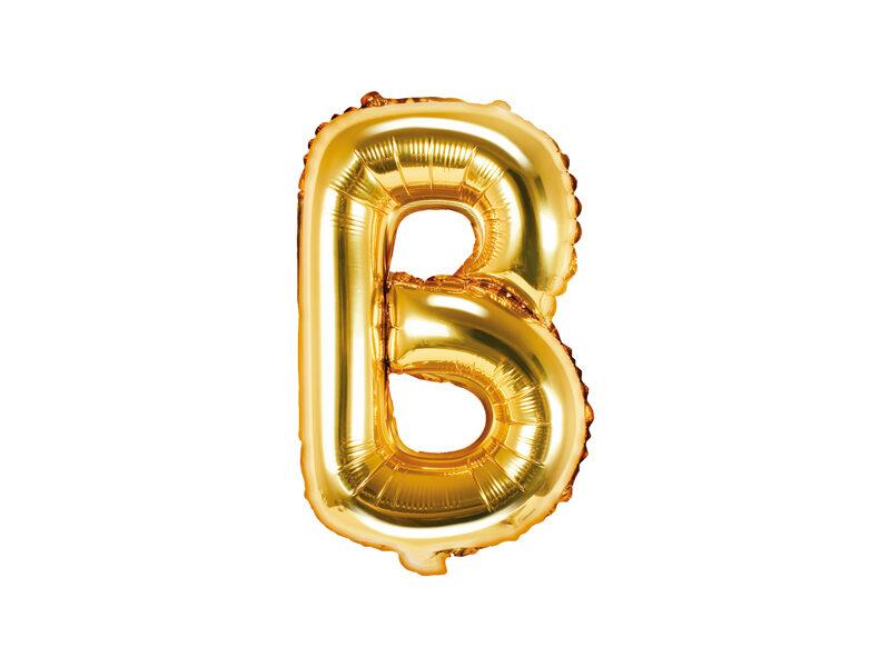 "Folija balona burts ""B"" 35cm, zelta"