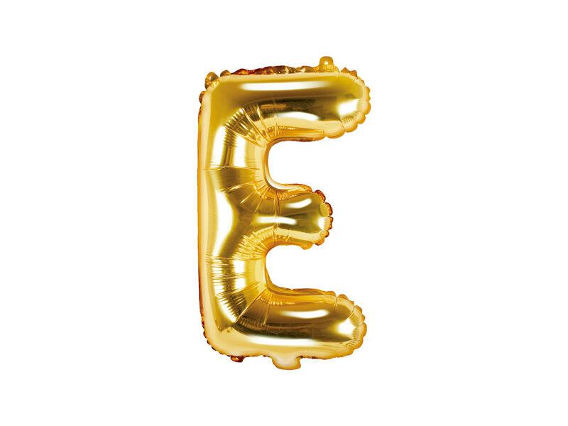 """Folija balona burts """"E"""" 35cm, zelta"""