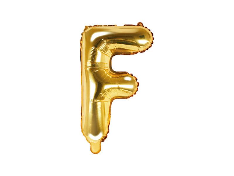 """Folija balona burts """"F"""" 35cm, zelta"""
