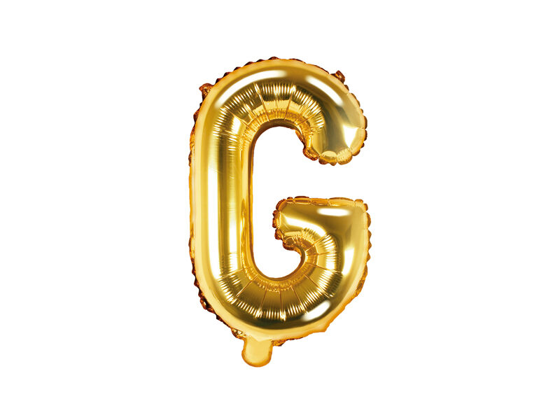 "Folija balona burts ""G"" 35cm, zelta"