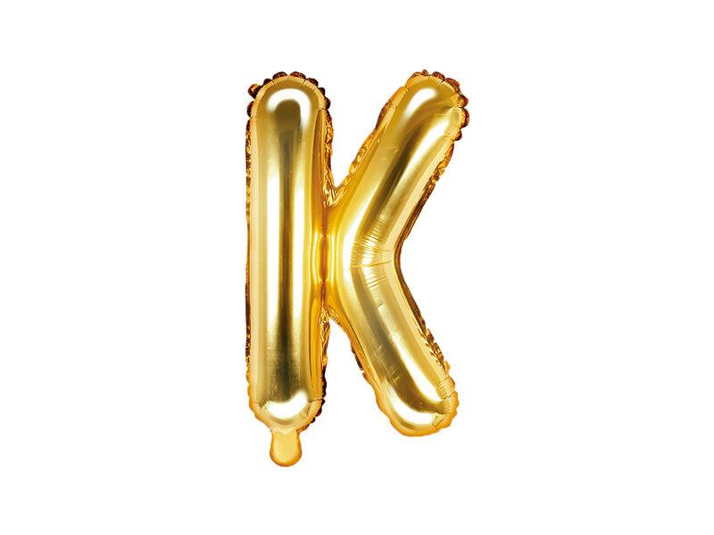 """Folija balona burts """"K"""" 35cm, zelta"""