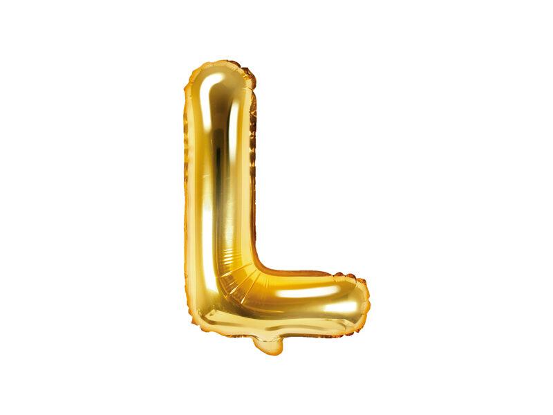 """Folija balona burts """"L"""" 35cm, zelta"""