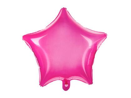 Folija balons Zvaigzne 48cm, fuksijas rozā