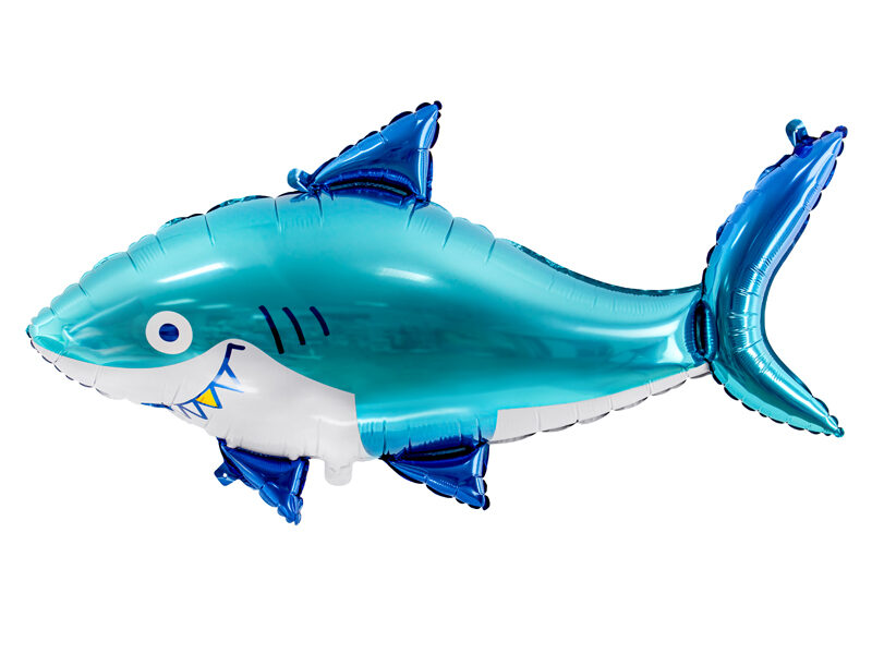 Folija balons Haizivs, zils