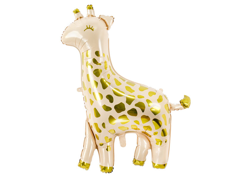 Folija balons Žirafe, zeltīts