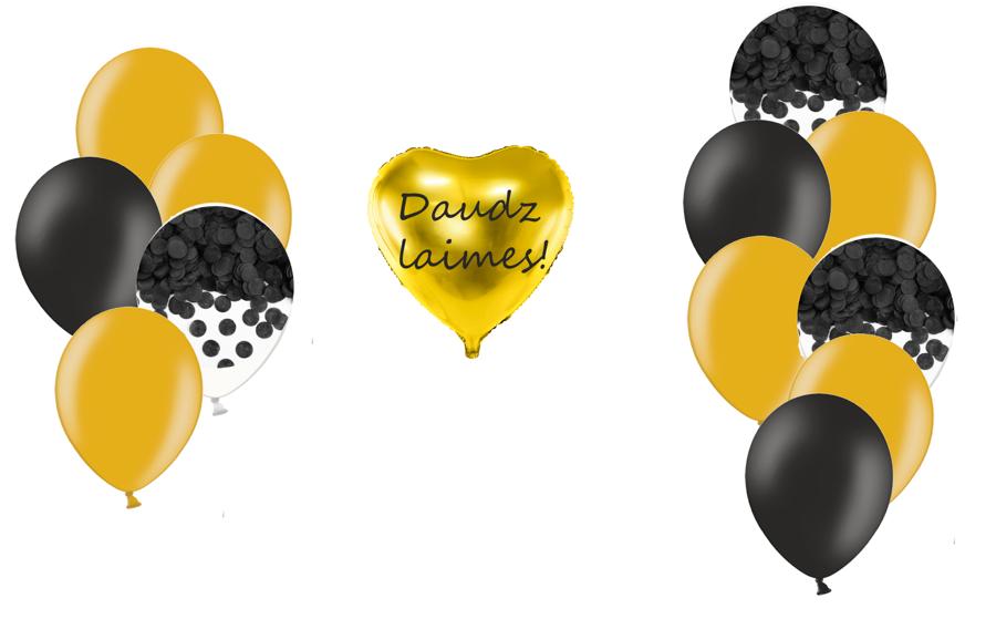 Personalizētā sirds kompozīcija Melnā elegance