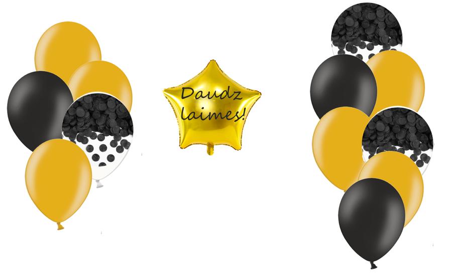 Personalizētā zvaigznes kompozīcija Melnā elegance