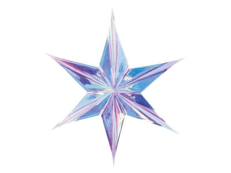 Hologrāfiska zvaigzne 40cm, zaigojoša