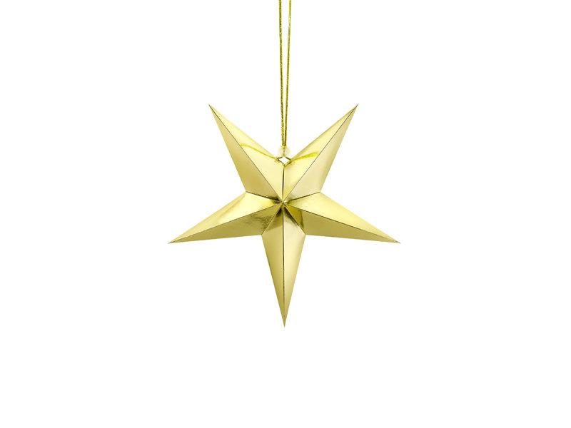 Papīra zvaigzne 30cm, zelta