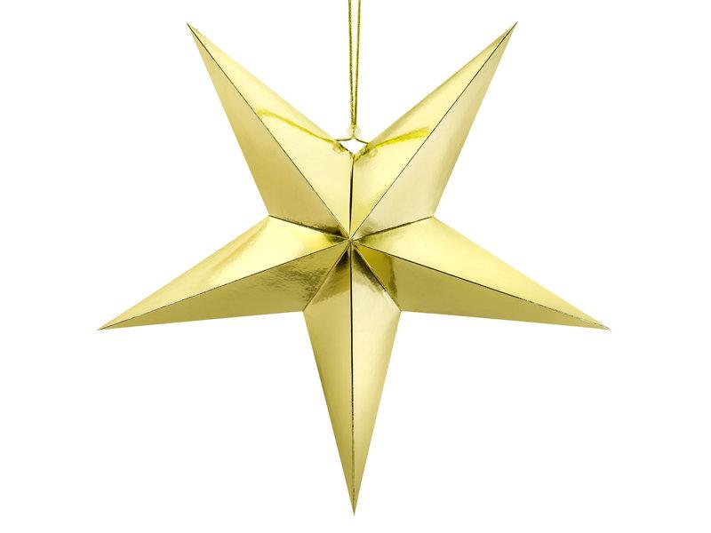 Papīra zvaigzne 70cm, zelta