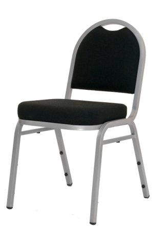 Krēsls Igorchair, sudraba pelēks rāmis ar melnu audumu