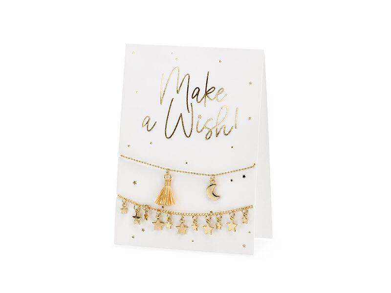 Apsveikuma kartiņa ar rokassprādzēm, Make a wish! 10.5x14.8cm