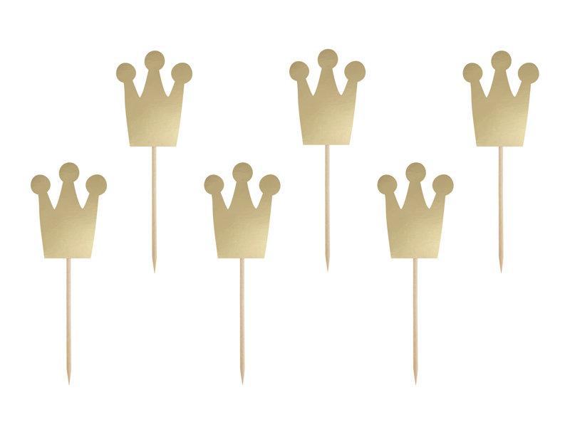 Kēksa dekors Princeses kroņi 12cm