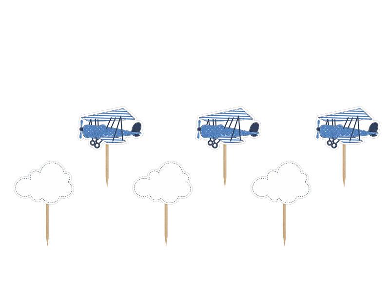 Kēksa dekors Mazā lidmašīna 10cm