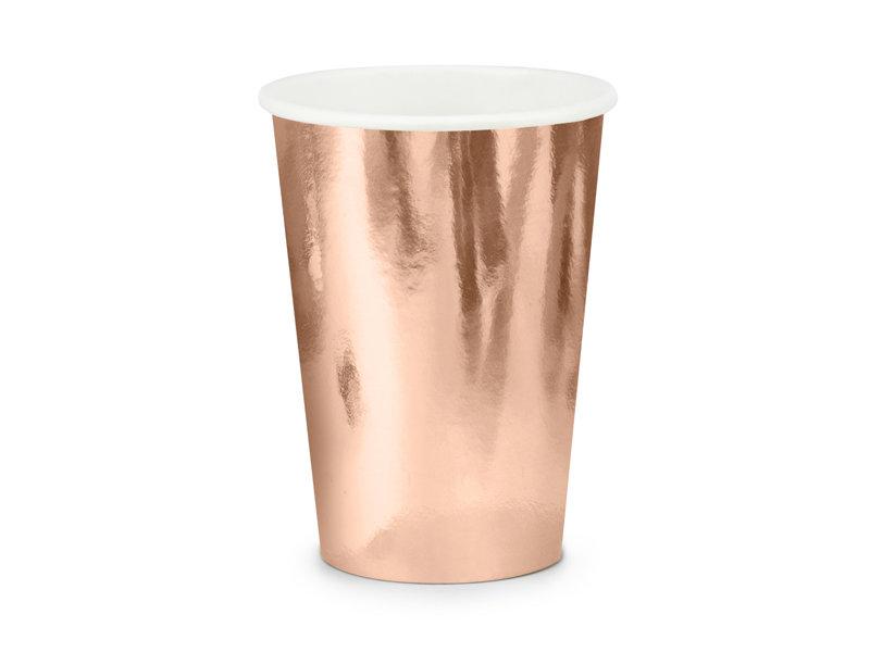 Glāzes 220ml, rozā zelta tonī