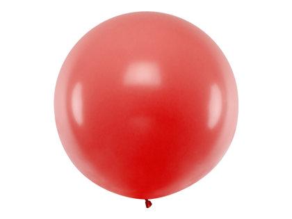Gigantiskais balons 1m, sarkanā tonī
