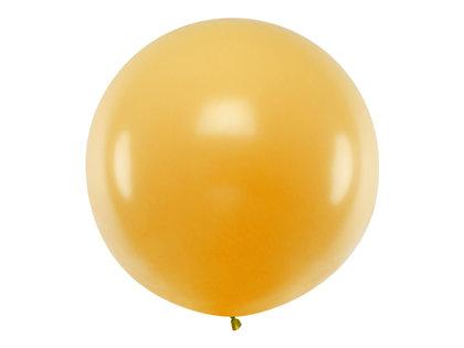 Gigantiskais balons matēts 1m, zelta tonī