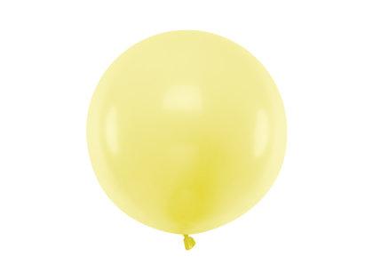 Gigantiskais balons 60cm, gaiši dzeltens