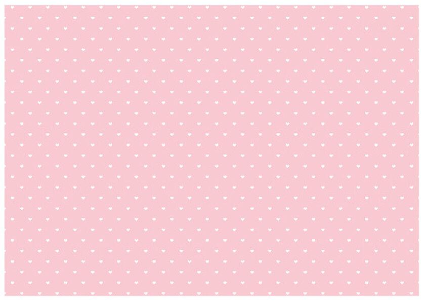 Dāvanu papīrs Mazuļi 100x68.5cm, maigi rozā ar baltām sirsniņām