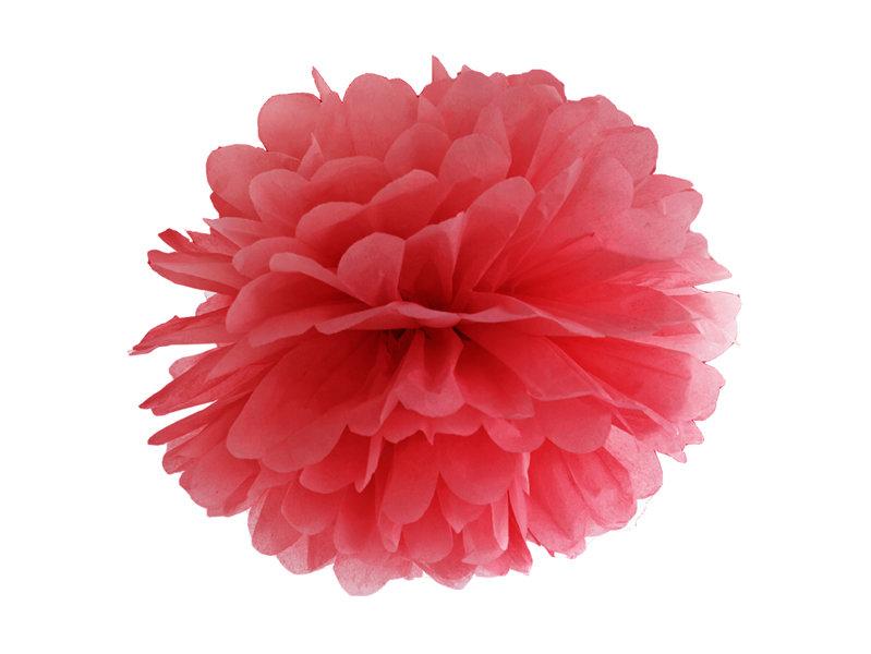 Zīdpapīra pomponi 25cm, sarkani