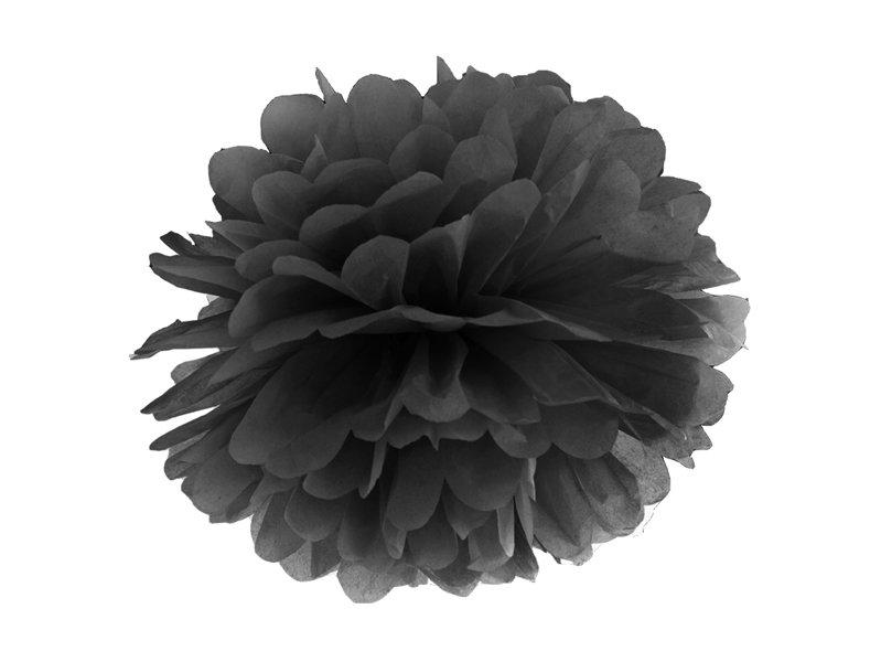 Zīdpapīra pomponi 25cm, melni
