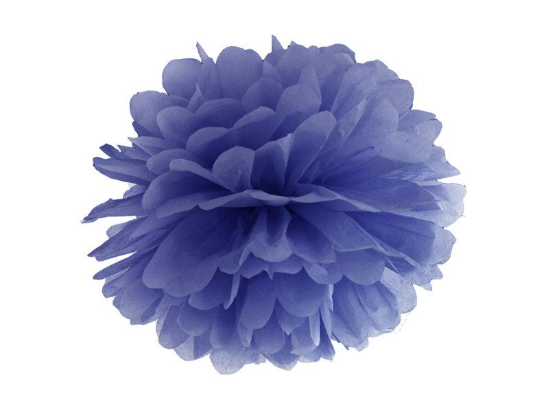 Zīdpapīra pomponi 25cm, tumši zili