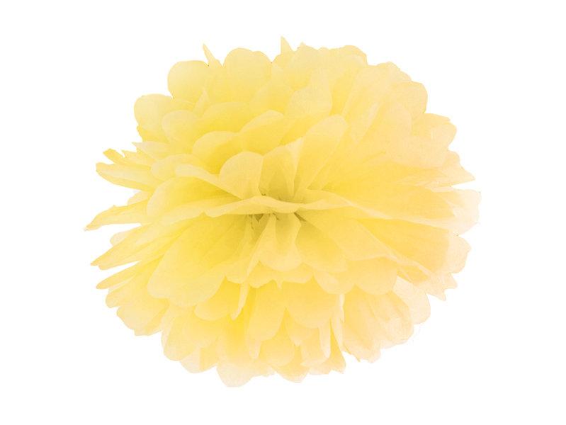 Zīdpapīra pomponi 35cm, dzelteni