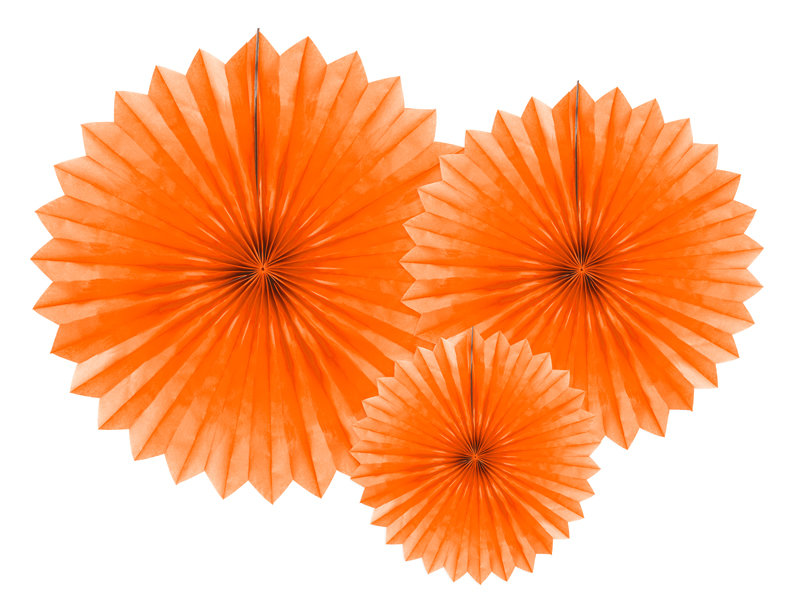 Zīdpapīra rozetes 20-40cm, oranžas