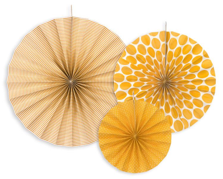 Dekoratīvās rozetes 23-40cm, oranžas