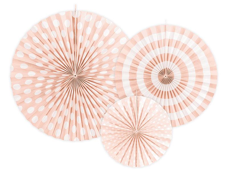 Dekoratīvās rozetes 23-40cm, maigā persiku tonī