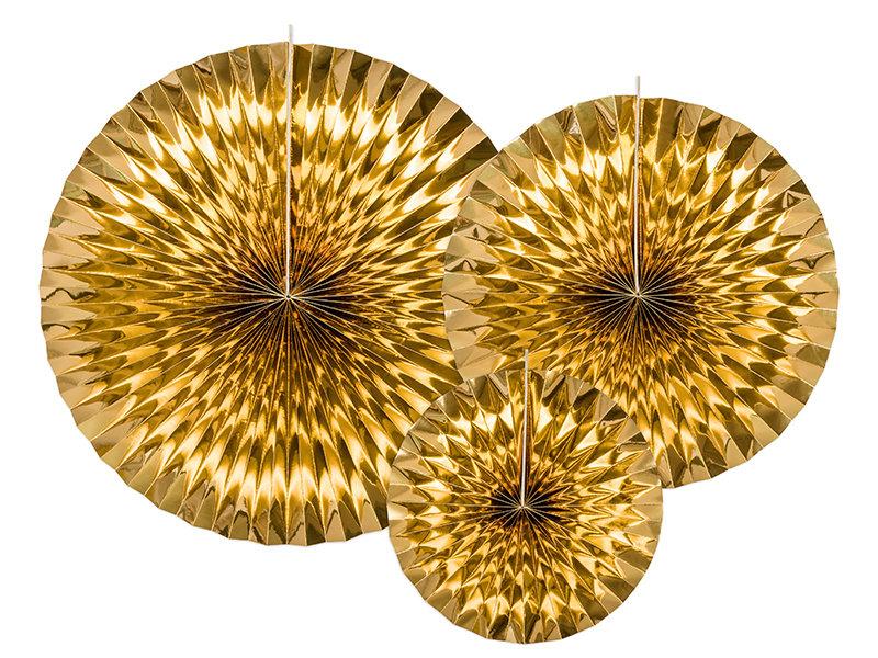 Dekoratīvās rozetes 23-40cm, zelta tonī