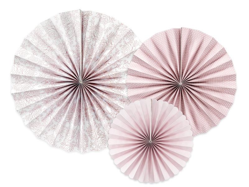Dekoratīvās rozetes 25-38cm, peonijas tonī