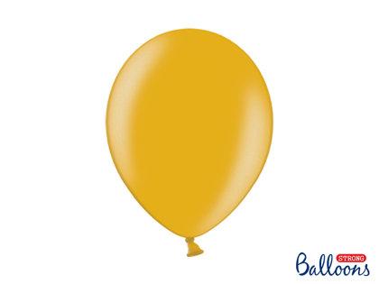Izturīgie baloni perlamutra 30cm, zelta tonī