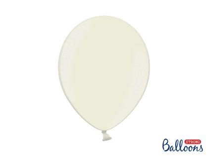 Izturīgie baloni perlamutra 30cm, krēmkrāsā