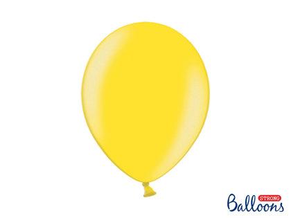 Izturīgie baloni perlamutra 30cm, citrona dzelteni